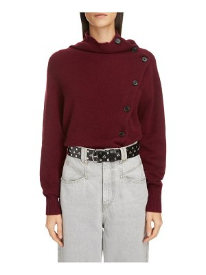 Isabel Marant asymmetrical button cashmere sweater