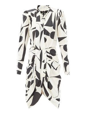 Isabel Marant atoae geometric-print silk-blend midi dress