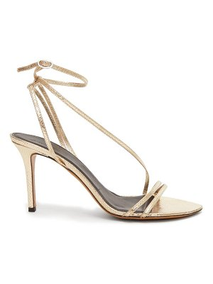 Isabel Marant axee snake-effect metallic-leather sandals