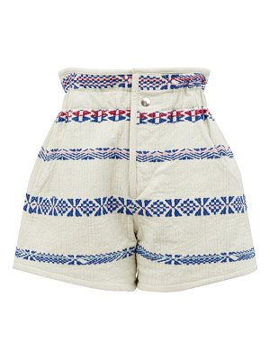 Isabel Marant baixa cotton-blend jacquard shorts