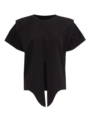 Isabel Marant belita knotted cotton-jersey t-shirt