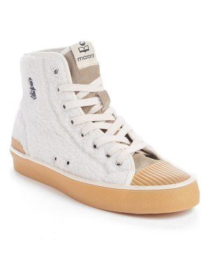 Isabel Marant benkeen faux shearling high top sneaker
