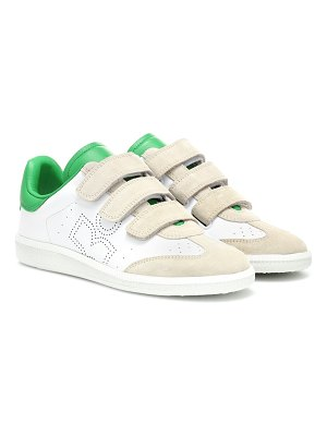 Isabel Marant beth leather and suede sneakers