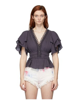 Isabel Marant black yemila blouse