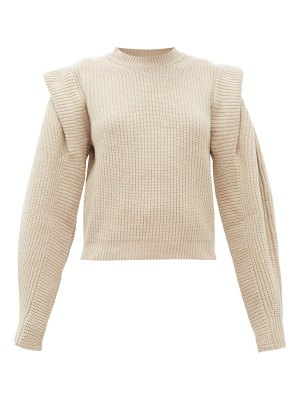 Isabel Marant bolton pintucked shoulder cashmere blend sweater