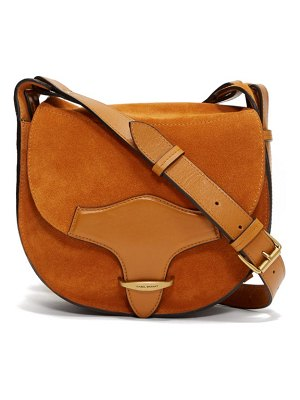 Isabel Marant botsy leather and suede cross-body bag