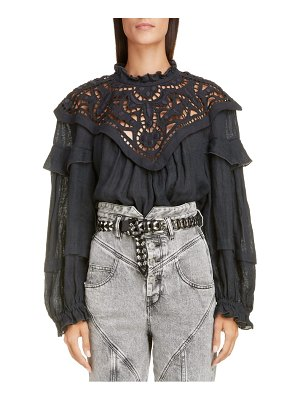 Isabel Marant broderie anglaise linen top