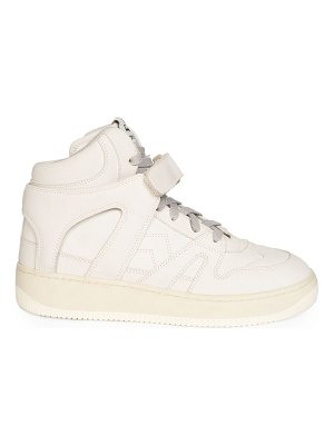 Isabel Marant brooklee suede leather high-top sneakers