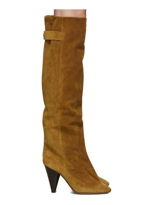 Isabel Marant brown suede lacine boots