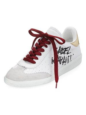 Isabel Marant Bryce Lace-Up Logo-Print Sneaker