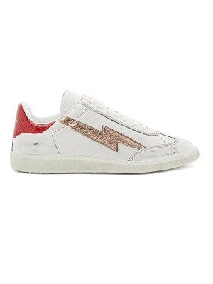 Isabel Marant bryce lightening-appliqué leather trainers