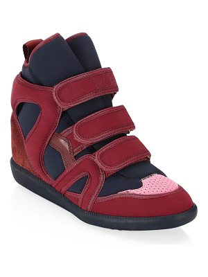 Isabel Marant buckee high-top sneakers