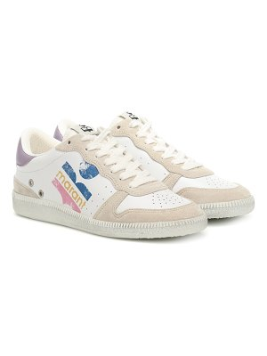 Isabel Marant bulian leather and suede sneakers