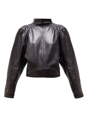 Isabel Marant caby high neck leather top