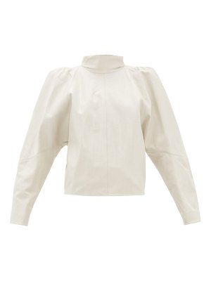 Isabel Marant caby leather shirt