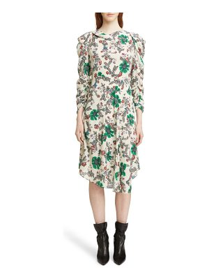 Isabel Marant carley ruched sleeve silk blend dress