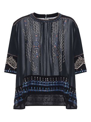 Isabel Marant cerza embroidered silk blouse