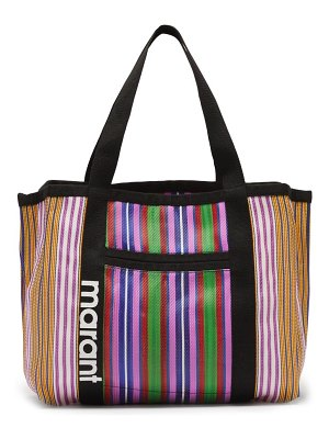 Isabel Marant darwen large striped-nylon tote bag