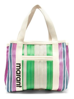 Isabel Marant darwen large striped-technical tote bag
