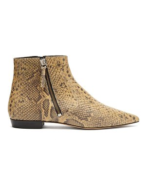 Isabel Marant Dawie python-print leather ankle boots