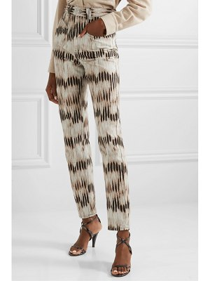 Isabel Marant dominic tie-dyed high-rise straight-leg jeans