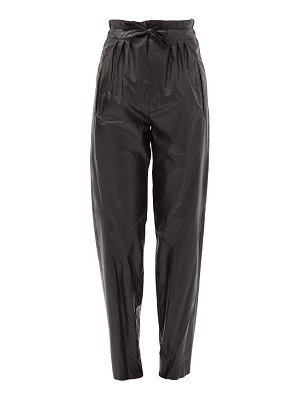 Isabel Marant duard pleated faux-leather trousers