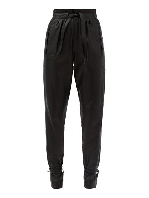 Isabel Marant duardo tied-ankle leather tapered trousers