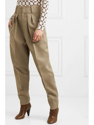 Isabel Marant durneri pleated wool-twill tapered pants