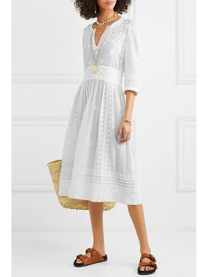 Isabel Marant eline embroidered cotton-voile midi dress