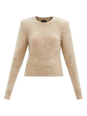 Isabel Marant erin padded-shoulder mohair-blend sweater