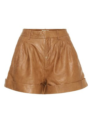 Isabel Marant, Étoile abot high-rise leather shorts