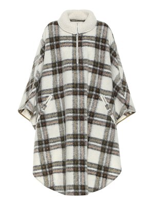 Isabel Marant, Étoile gabin checked wool-blend poncho