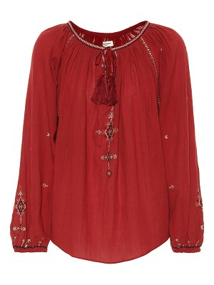 Isabel Marant, Étoile Melina embroidered cotton top