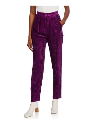 Isabel Marant Fany Pleated Corduroy Trousers