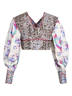 Isabel Marant faxinal blooming floral-print quilted top