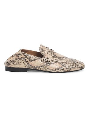 Isabel Marant fezzy snakeskin-embossed leather loafers