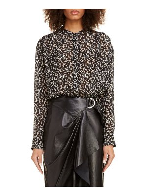 Isabel Marant floral metallic silk blend blouse