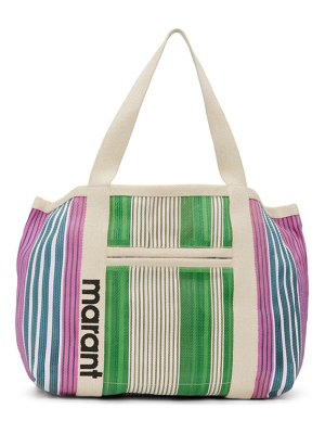 Isabel Marant green and multicolor darwen tote
