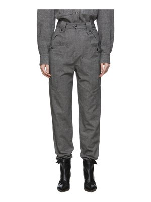 Isabel Marant grey tapered yerris trousers