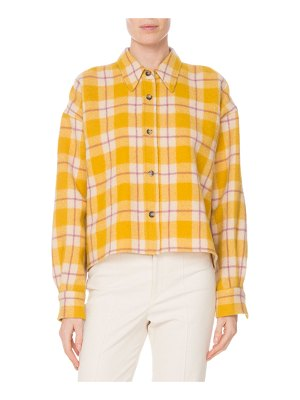 Isabel Marant Hanao Button-Front Check Quilted Wool Shirt