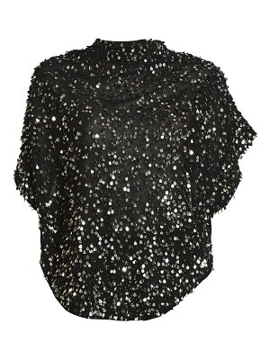 Isabel Marant imanea beaded sequin mockneck blouse