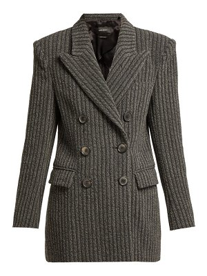 Isabel Marant Jaxen Double Breasted Wool Blend Jacket