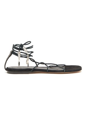 Isabel Marant jindia bead-embellished rope and suede sandals