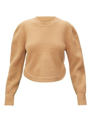 Isabel Marant julian curved-hem cashmere and wool sweater