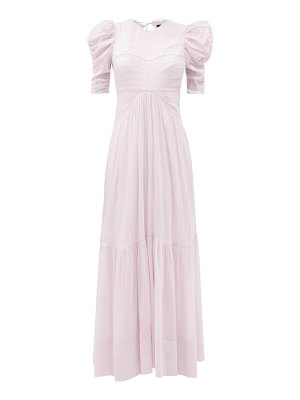 Isabel Marant katici puffed-sleeve cotton-blend voile maxi dress