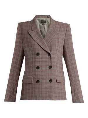Isabel Marant Kerena double-breasted checked cotton blazer