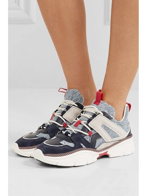Isabel Marant kindsay denim, suede and leather sneakers