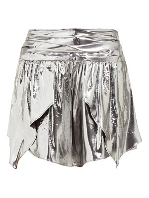 Isabel Marant kira metallic silk blend mini skirt