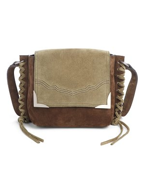 Isabel Marant kleny colorblock suede shoulder bag