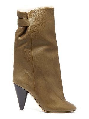 Isabel Marant lakee shearling lined leather boots